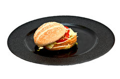 Huhnburger lizenzfreie stockbilder