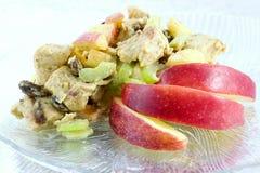Huhncurrysalat Stockbild