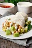 Huhnfajitas mit Avocado Lizenzfreies Stockbild
