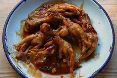 Huhnfuß-Eintopfgericht Stockfotos