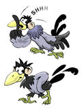 Huhnkarikatur Lizenzfreie Stockfotografie