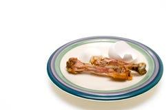 Huhnknochen und Eierschale Lizenzfreies Stockfoto