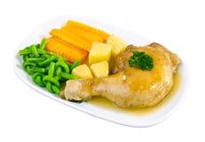 Huhnschenkelsteak lizenzfreies stockfoto