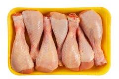 Huhnschienbein in der Verpackung Lizenzfreie Stockbilder