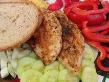 Huhnsteak stockbilder