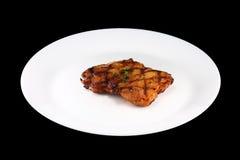 Huhnsteak mit Gemüse lizenzfreie stockfotografie