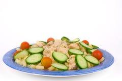 Huhnteigwaren mit Gemüse Lizenzfreies Stockfoto
