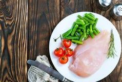 Huhnverkleidung mit Gemüse Lizenzfreie Stockfotografie