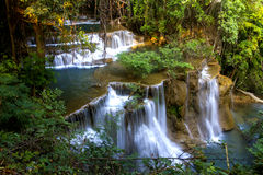Hui Mae Kamin Waterfall green forest Royalty Free Stock Photo