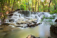 Hui Mae Khamin waterfall in deep forest , Thailand Stock Photos