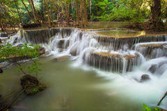 Hui Mae Khamin waterfall in deep forest , Thailand Royalty Free Stock Photography