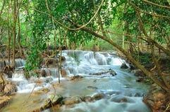 Hui Mea Khamin Waterfall, Kanchanabury, Thailand Royalty Free Stock Image
