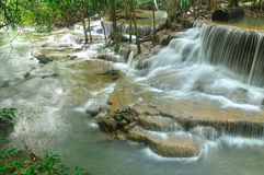 Hui Mea Khamin Waterfall, Kanchanabury, Thailand Royalty Free Stock Photo
