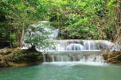 Hui Mea Khamin Waterfall, Kanchanabury, Thailand Stock Photography