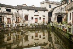 Hui-stijl Architectuur in een Chinees dorp Royalty-vrije Stock Afbeelding