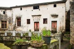 Hui-stijl Architectuur in een Chinees dorp Royalty-vrije Stock Afbeeldingen