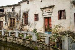Hui-stijl Architectuur in een Chinees dorp Stock Foto's