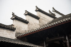 Hui-style Architecture in a Chinese village Royalty Free Stock Photo