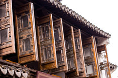 Hui style building-wooden windows Royalty Free Stock Photography