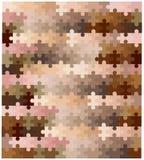 Huid Tone Jigsaw Pieces Royalty-vrije Stock Fotografie