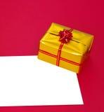 Huidige doos en spatie Royalty-vrije Stock Foto's