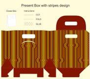 Huidige doos met strepenontwerp Royalty-vrije Stock Foto's