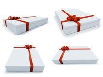 Huidige doos in verschillende posities Stock Foto