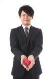 Huidige en jonge zakenman Royalty-vrije Stock Afbeelding