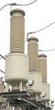 Huidige transformator 110 kV hoogspanningshulpkantoor Stock Foto