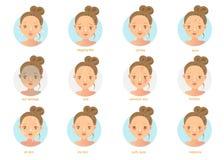 huidproblemen stock illustratie