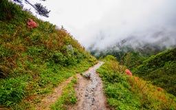 Huihang Ancient Trail Hiking Tour Stock Photos