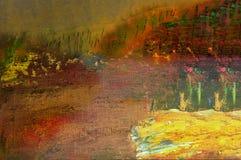 Huile abstraite sur la toile Images libres de droits
