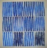Huile bleu outremer sur papier, 2006 - 2007 Stock Photo
