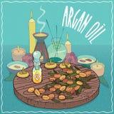 Huile d'argan utilisée pour l'aromatherapy Photos libres de droits