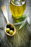 Huile d'olive Photographie stock