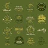 Huile d'olive, concept de construction Grande sélection Photo libre de droits