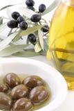 Huile d'olive de Vierge Image libre de droits
