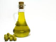 Huile d'olive et olive image libre de droits