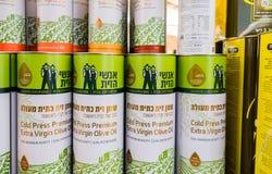 Huile d'olive extra vierge froide de presse photo libre de droits