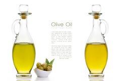 Huile d'olive vierge supplémentaire Calibre de conception d'isolement sur le blanc Photos stock