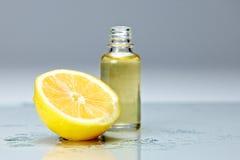 huile de citron Photographie stock libre de droits