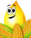 Huile de maïs de baisse Image libre de droits