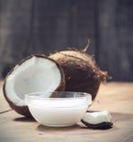 Huile de noix de coco image stock