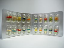 Huile dure de gélatine de capsule Photo stock