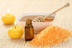 Huile essentielle de miel Photographie stock libre de droits