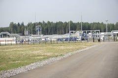 Huile et industrie du gaz dans HDR puissant traitant l'effet images libres de droits