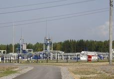 Huile et industrie du gaz dans HDR puissant traitant l'effet photographie stock
