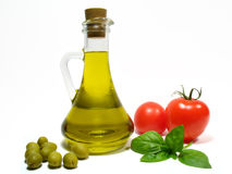 Huile et légume d'olive Photographie stock libre de droits