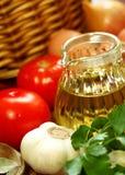Huile et légumes d'olive Photos libres de droits
