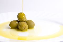 Huile et olive Photo stock